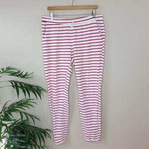 Ampersand Ave | Red White Striped Joggers